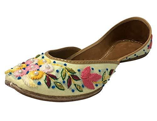 Mojari Indian Punjabi Step Designer Flats Shoes N Jutti Style Wedding wxxqSUzT