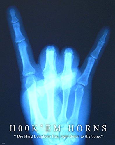Medical X-ray Motivational Poster Art Print Texas Longhorns University
