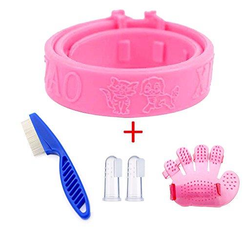 xj Pink Adjustable Dog Cat Rabbit Neck Strap Anti Flea Mite Tick Adjustable...