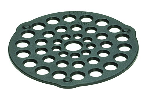 Lodge L8DOT3 Cast Iron Meat Rack/Trivet, Pre-Seasoned, 8-inch (Wood Stove Enameled)