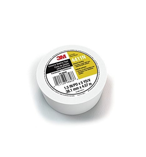 3M Extreme Sealing Tape 4411N Translucent, 1 1/2 in x 5 yd