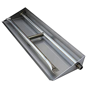 Stanbroil Stainless Steel Dual Fireplace Burner Pan, 20.5 Inches