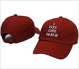 I Feel Like Pablo Hat Cap In Burgundy Yeezy Yeezus Baseball The Life Of  Pablo  0742920656751  Amazon.com  Books f8b2c26cdf10