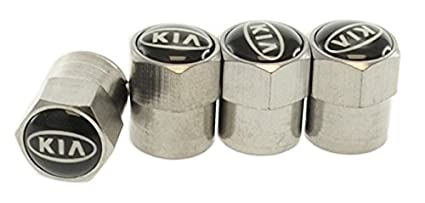 Snap On Valve Stems Chrome Silver Metal Short w// Stem Tire Performance Caps 20