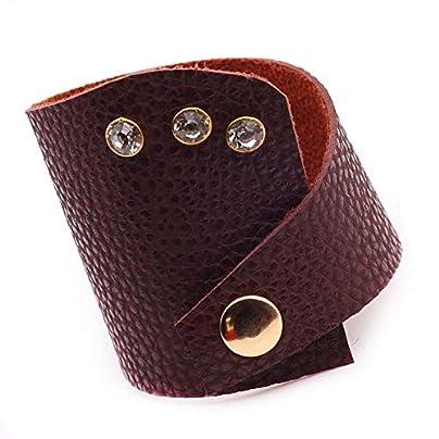 ZUOZUO Leather Wristband Bracelet Handmade Authentic Charm Bracelet Female Models Black Bracelet Female Models Estimated Price £20.99 -