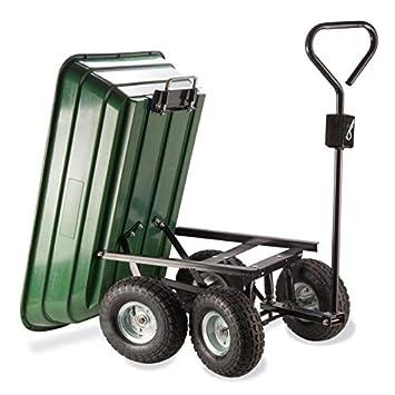 Probache - Chariot remorque de Jardin Vert basculant: Amazon.fr: Jardin