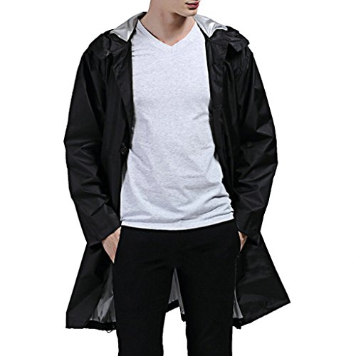 Stunner Men's Fashion Casual Waterproof Raincoats Windproof Lightweight Hood Jacket