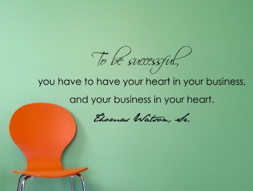 Thomas Watson Sr. Motivational Business Quote Wall Decal