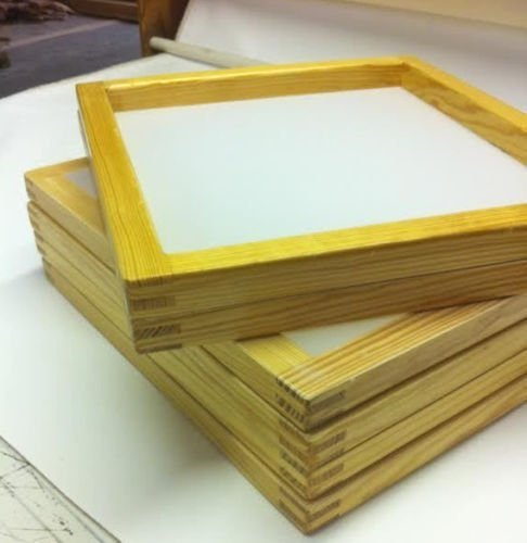 6 Wood Silkscreen Frames 20 X 24 (230 mesh) White or yellow mesh