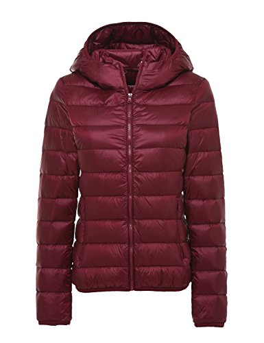 de Red Wine de Cherry Wider Waist Chaqueta Chick Ultra Packable Plumón Las Ligero Mujeres wR0P6qR