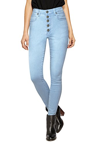 HyBrid & Company Womens Super Stretch 5 Button Hi Waist Skinny Jeans P43250SKX Light WASH 20