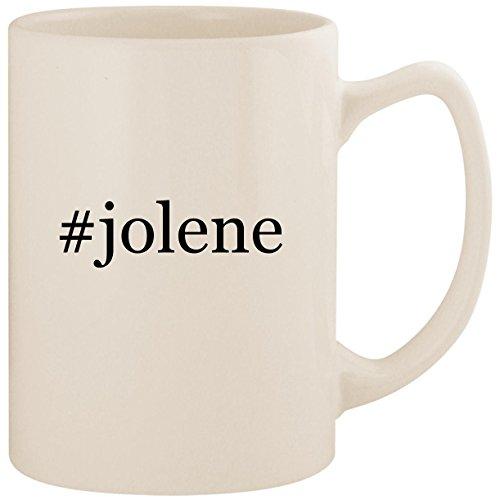#jolene - White Hashtag 14oz Ceramic Statesman Coffee Mug Cup