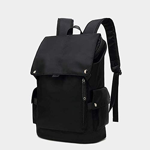 Ergonomic Nosterappou Stylish and Lightweight Waterproof and Durable Student Backpack Simple Casual Backpack Full Waterproof Oxford Cloth Nylon Large-ca S-Shaped Shoulder Strap