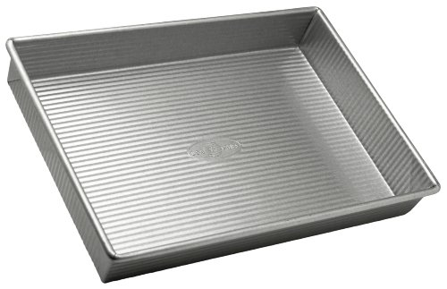 USA Pan Bakeware Rectangular Cake Pan, 9 x 13 inch, Nonstick & Quick Release Coating, Made in the USA from Aluminized Steel by USA Pan