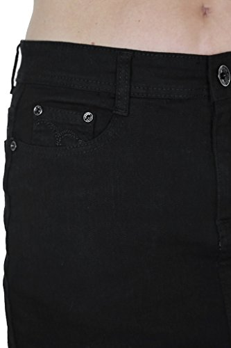 ICE (2515-1) Tessuto Black Denim Gonna e Extensible Large Size