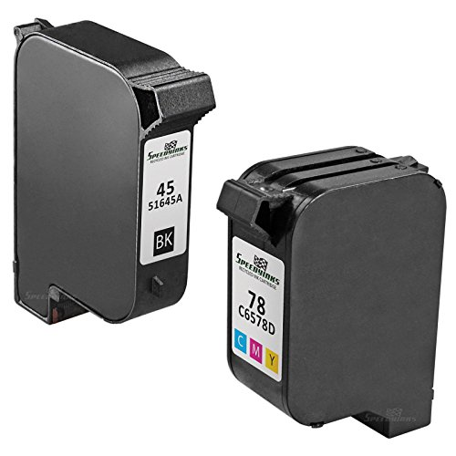 Speedy Inks - 2PK Remanufactured replacement for HP 45 51645A & HP 78 C6578D Ink Cartridge Set: 1 Black 1 Color