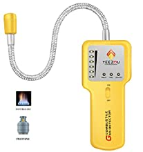 Combustible Natural Gas Leak Detector,Portable Methane/Propane,LPG, LNG Sensor Tester Sniffer