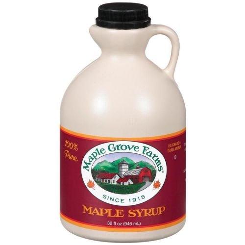 Maple Grove Farms Dark Amber Syrup, 32 Ounce -- 12 per case.