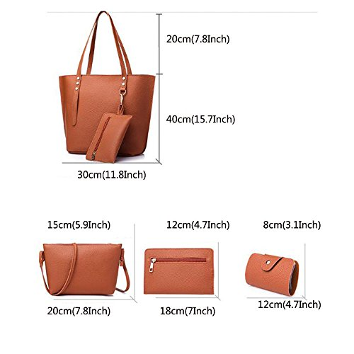 Satchel Shoulder Womens Leather Genuine Packs Purse 4 Pink Handbags Top Handle Tote Bag xUIqfwU84