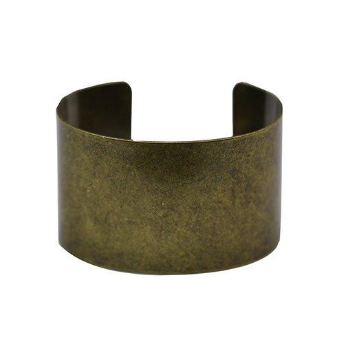 Brass Handmake Adjustable Bracelet Cuff Blank Plated Anti-Brass Sold by PC