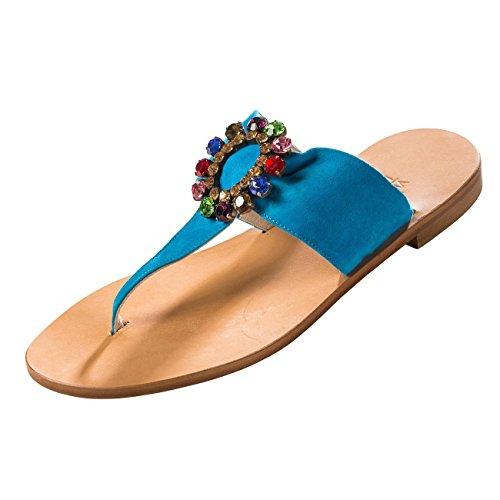 Fashion Sandals 5 Women's blue Amendola Trotta blue Blue 6 PCxqfEa