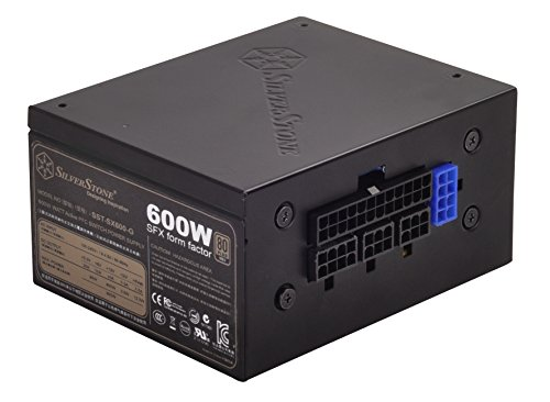 SilverStone Technology 600W SFX Form Factor 80 PLUS GOLD Full Modular Power Supply with +12V single rail, Active PFC (SX600-G) (600 W Power Supply Modular compare prices)