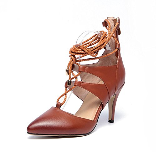 MINIVOG Strappy D-orsay Womens Pump Shoes Brown dTKcMElM