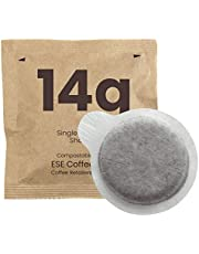 Cafe ORO 14g - 50 Double Shot ESE Espresso Coffee Pods for Commercial Machines Using 58 mil portafilter and 210 or 215 Basket