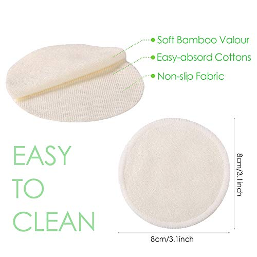 Makeup Remover Pads Reusable 20 Packs-Natural Bamboo Cottons Facial Skin Caring Pads-Face Cleaning Clothes Wipes Machine Washable With Laundry Bag by AMOGO (Image #2)