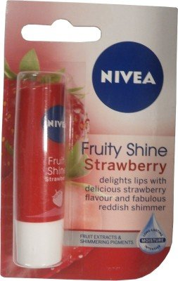 Nivea Fruity Shine Strawberry Lip Balm - 6
