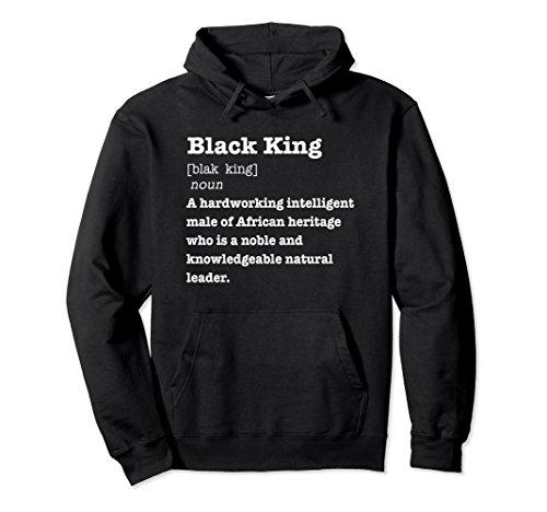 Unisex Black King Definition Hoodie African Pride Melanin Educated 2XL Black