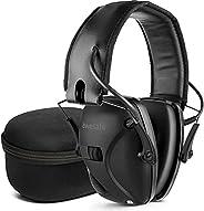 awesafe Electronic Shooting Earmuffs Noise Reduction with Storage Case (Black)