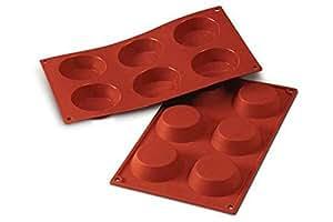 Sf016 molde de silicona 6 cavidades con forma de tartelette color terracota hogar - Moldes silicona amazon ...