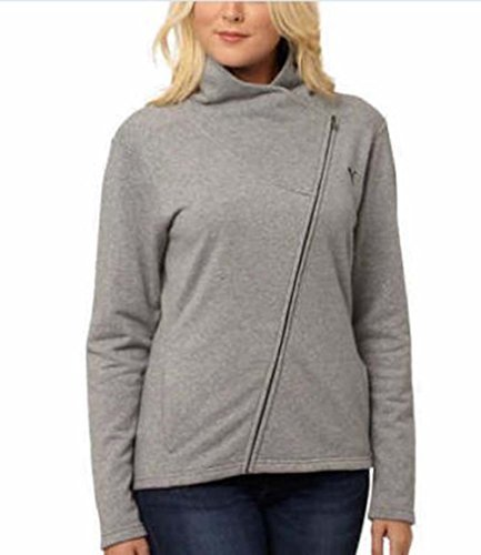 Puma Ladies' Asymmetrical French Terry Full Zip Jacket (X-Large, Med Gray Heather)