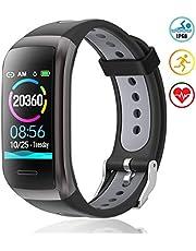 TagoBee TB14 Orologio Fitness Tracker IP68 Impermeabile Smart Band 1.14'' LCD a Colori Sport Smart Bracciale Sport con Cardiofrequenzimetro Pressione Sanguigna Compatibile con Android e iOS