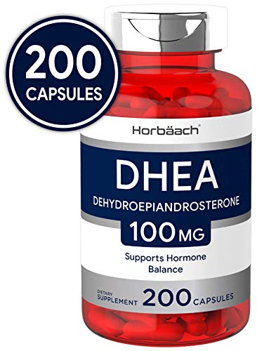 DHEA 100mg | 200 Capsules | Non-GMO, Gluten Free Supplement | by Horbaach from Horbäach