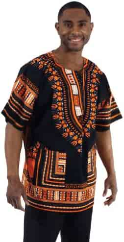 77a33f1b3ff King-Sized Traditional Print Unisex Dashiki Top - Up to 68