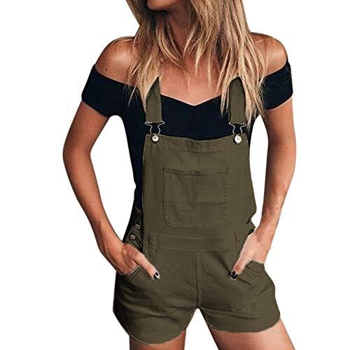 ALIKEEY es De Mezclilla Suelta De Mezclilla De Las Mujeres es De Mezclilla Jeans Demin Shorts Mono Verde
