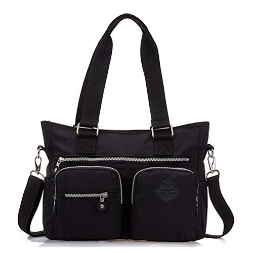 Bag Shoulder Handbag Multipurpose Tiny Premium Resistant Chou Black Body Cross for Tote Water Nylon Women vgqwZPWTxq