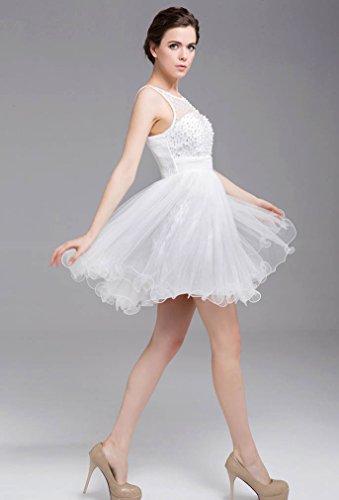abito paletta sera elegante con Gowns da da Party Pantaloncini 2016 White Vimans® donna 0wqxZAgBB