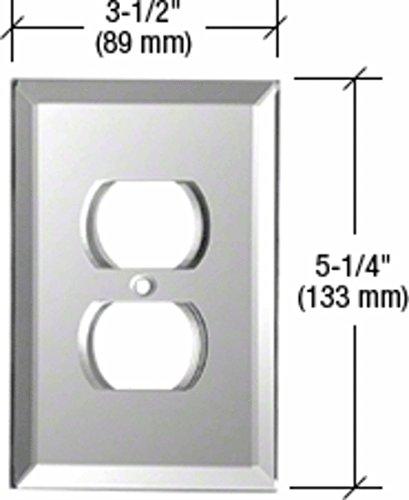 Duplex Plug Glass Mirror Plate - CRL Duplex Plug Glass Mirror Plate - Gray