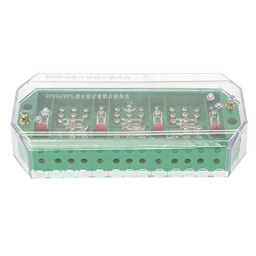 Caja de conexiones, caja de conexión de caja eléctrica resistente al agua, caja de terminales transparente, para medición de energía eléctrica doméstica trifásica de 4 hilos(#01): Amazon.es: Industria, empresas y ciencia