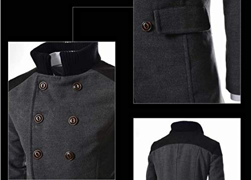 Coat Collar Jackets Dark Woolen Hoodie Turn Grey Dust Parka Howme Men Down Warm xwIqgwYfA