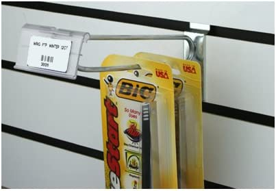 Double Hook Wire Shelf Retail Price Tag Label Holder Merchandise Sign Display Holder 4 * 8cm//1.57 * 3.15in Qincling Pack of 60 Clear Plastic Label Holder