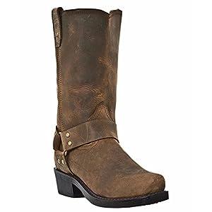 Dingo Men's Brown Motorcycle Boots DI19076 -11EW