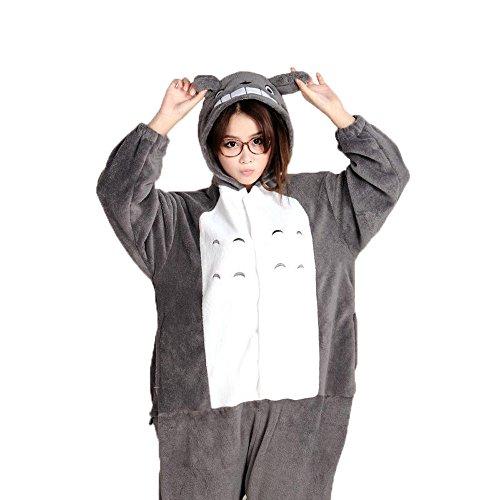 [kaguster Kigurumi Unisex-adult Animal Pajamas Sleepwear Costume Totoro (M(5'3