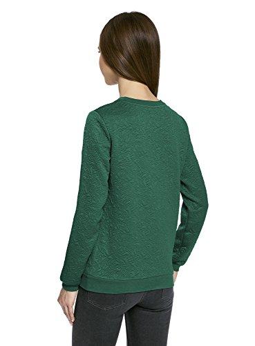 oodji Ultra Mujer Suéter Recto de Tejido Texturizado Verde (6E00N)