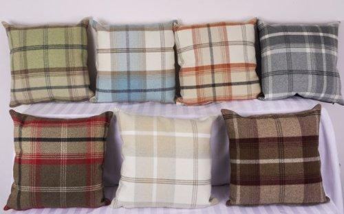 Highland Mist Tartan 40in X 40in Cushion Cover In Terracotta Amazon Custom Tartan Pillow Covers