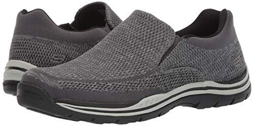 Skechers Men's Expected-Gomel Sneaker, Grey, 6.5 Extra ExtraWide US