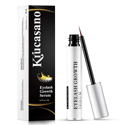 Krucasano Eyelash Growth Serum – Lash Serum to Grow to Lashes by Natural Extract Lengthening Formula for Dense Black…